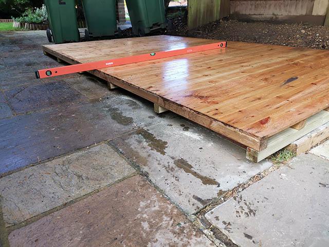 10ft x 6ft Regency Notton Pent Shed Floor Overhanging Base - Franklin