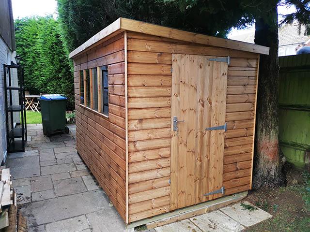 10ft x 6ft Regency Notton Pent Shed Installation in Horsham West Sussex - Franklin
