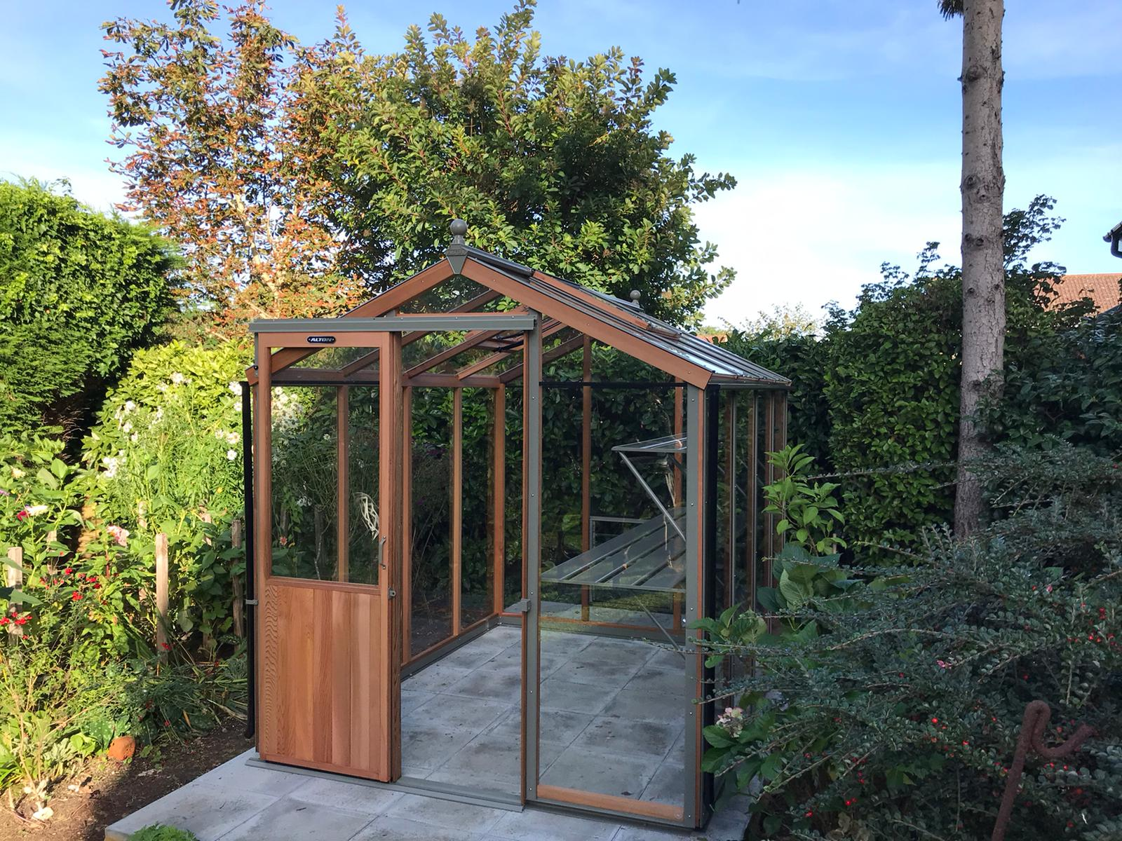 8ft x 6ft Alton Cedar Greenhouse Installation in Billingshurst West Sussex - Magson