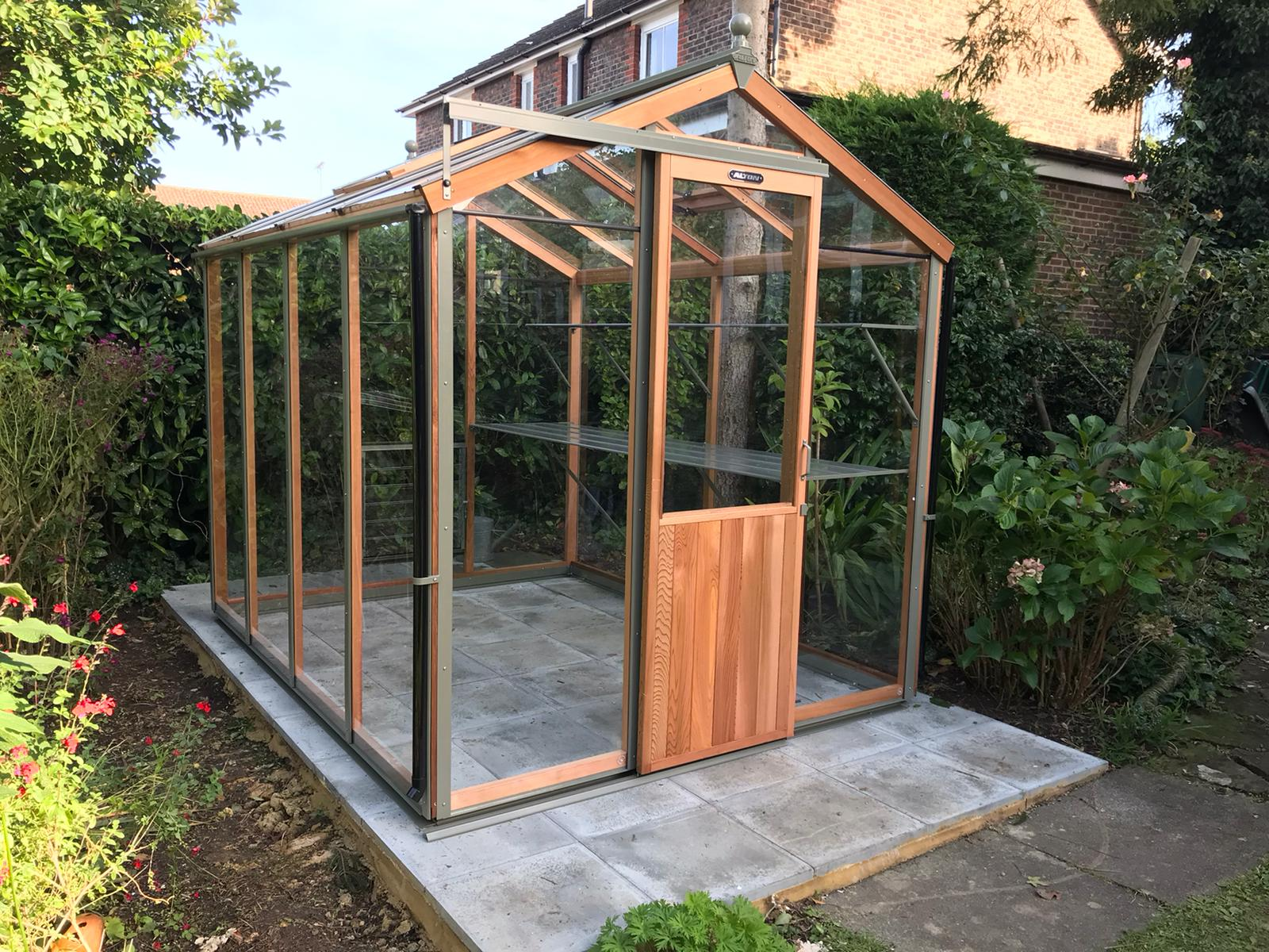 8ft x 6ft Alton Greenhouse Installation in Billingshurst - Magson