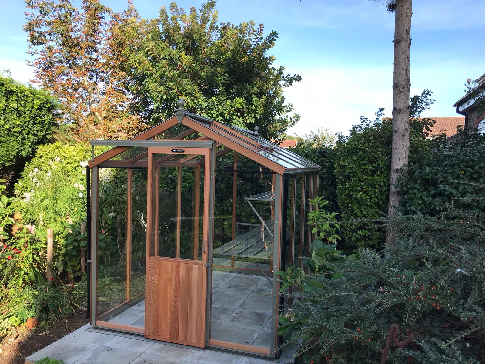 8ft x 6ft Alton Greenhouse Installation in Billingshurst West Sussex - Magson