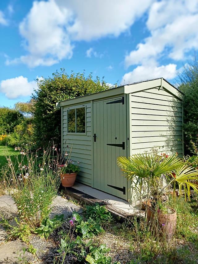 Painted Malvern Heavy Duty Apex 8x6 Garden Workshop Installed in Henfield West Sussex - Martin