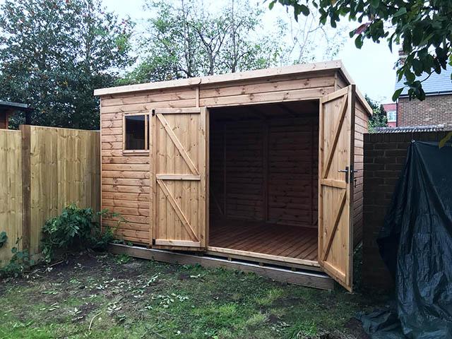 Premier Pent 12x8 Garden Workshop with Double Doors - Homann