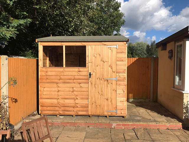 Regency Apent 8x6 Garden Shed Installed in Crawley West Sussex - Lovell