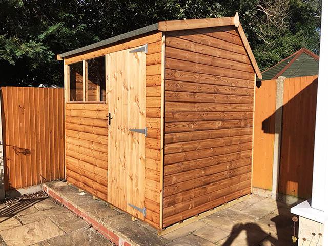 Regency Apent 8x6 Garden Storage Shed Installed in Crawley West Sussex - Lovell