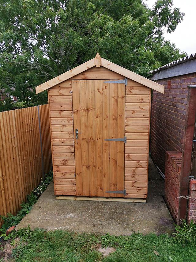 Regency Royston 7x5 Storage Shed Installed in Horsham West Sussex - Denman